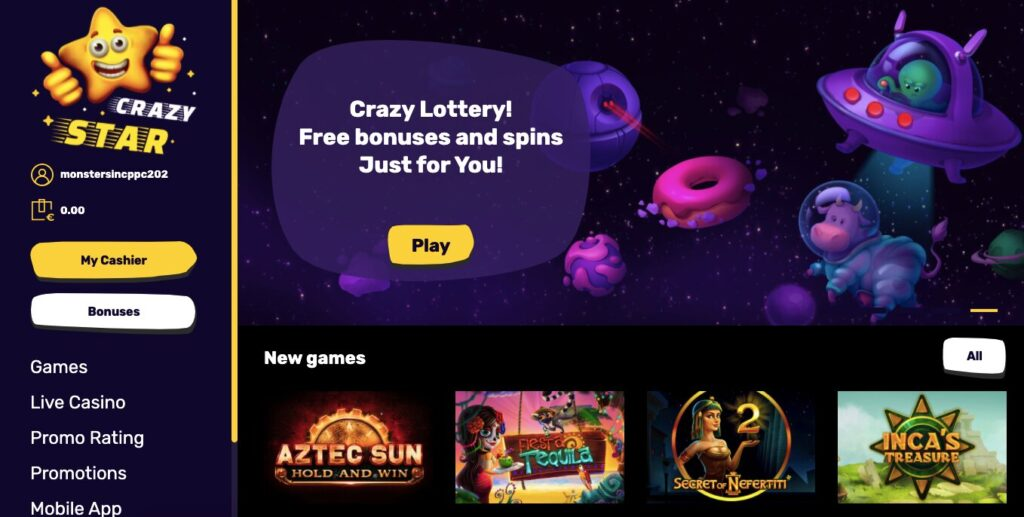 Crazy Star Casino Bewertung