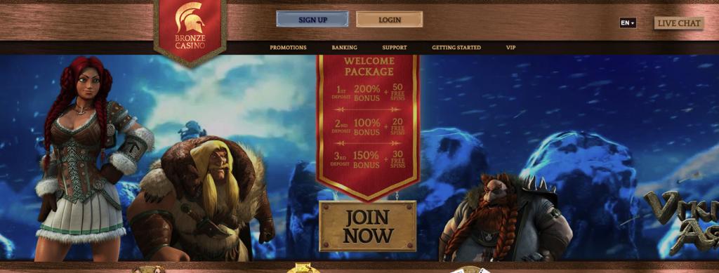 bronze casino welcome